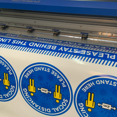 COVID Vinyl Stickers Digital Printing