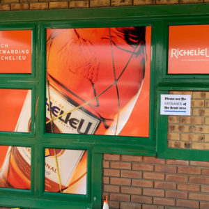 Richelieu Shop Window Vinyl Branding